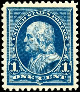 Post Office_Benjamin_Franklin2_1895_Issue-1c