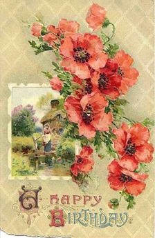 3 vintage holidaycrafts free-vintage-birthday-cards-farm-scene-poppies