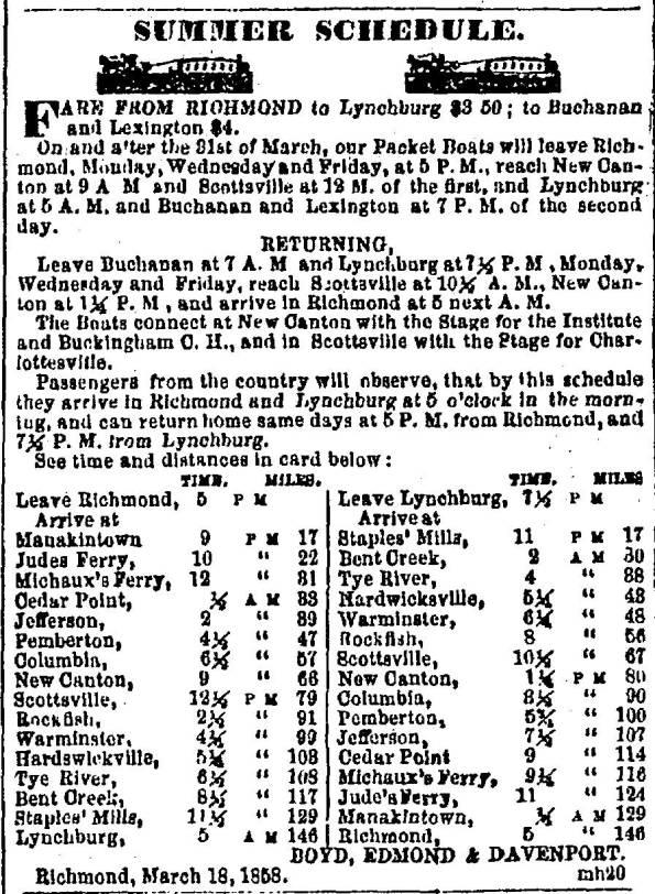 Slate-River-Ramblings_1858_Canal-Schedule