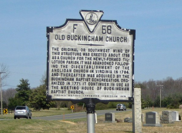 Buckingham-Baptist_Historic-marker_3