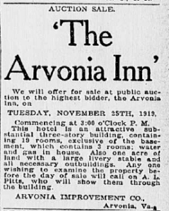 Arvonia Hotel Auction