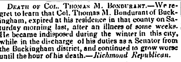 Bondurant_Thomas M_Death